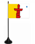 Nunavut Desk / Table Flag with plastic stand and base.